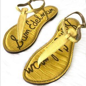 Sam Edelman Yellow Gigi Strappy Thong Sandals 7.5